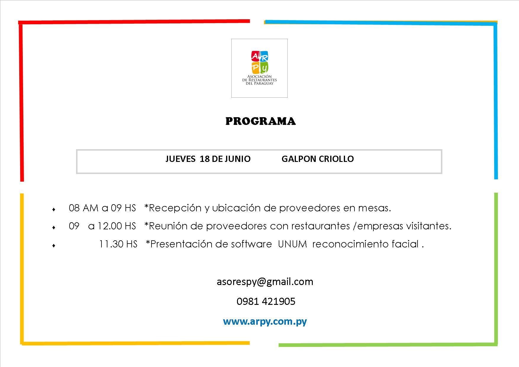 programa ARPY 18